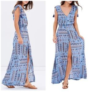 Tigerlily Blue Campeche Aztec Print Maxi Dress 2